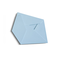 Large Folded Light Blue