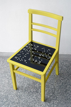 "Chair yellow & black ""when i´m good ..."""